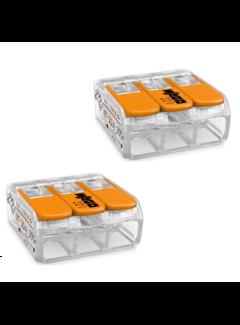 2 stk. WAGO kronmuffe 0.14-4 mm 3-polet