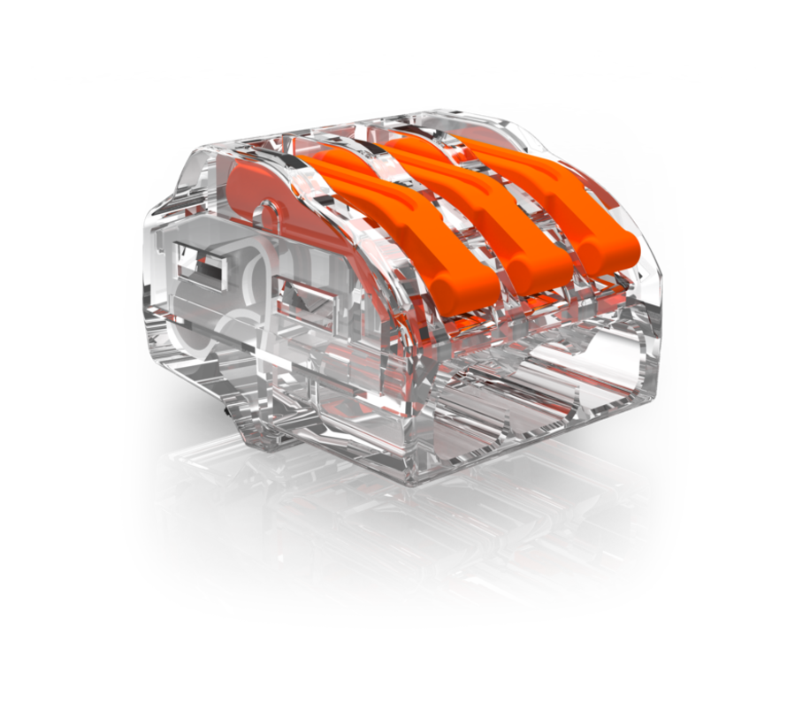 40 stk. Conex samlemuffe - 3-polet 0,5 op til 4mm2