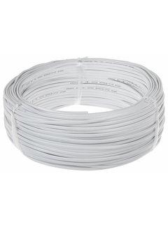 Hvidt fladt tilslutningskabel - 100 m - 2x0,75 mm2 H03VVVH2-F