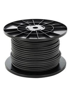 Sort rundt tilslutningskabel - 100 m - 3x1,5 mm2 - H05VV-F 3G1.5