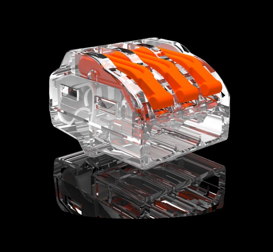Conex samlemuffe 3-polet 0,5 op til 4mm2 - til fleksible og stive ledninger - Pris pr. stk.