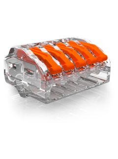 Conex samlemuffe 5-polet 0,5 op til 4mm2 - Til fleksible og stive ledninger - Pris pr. stk.