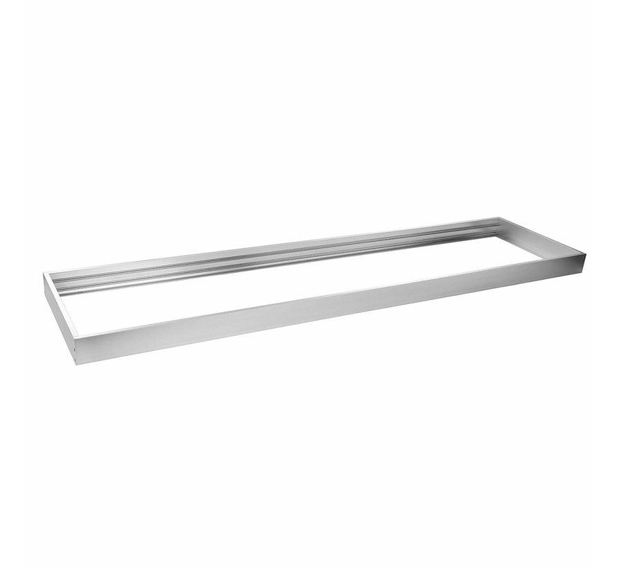 Sølv aluminium rammesystem til LED panel 120x30 cm