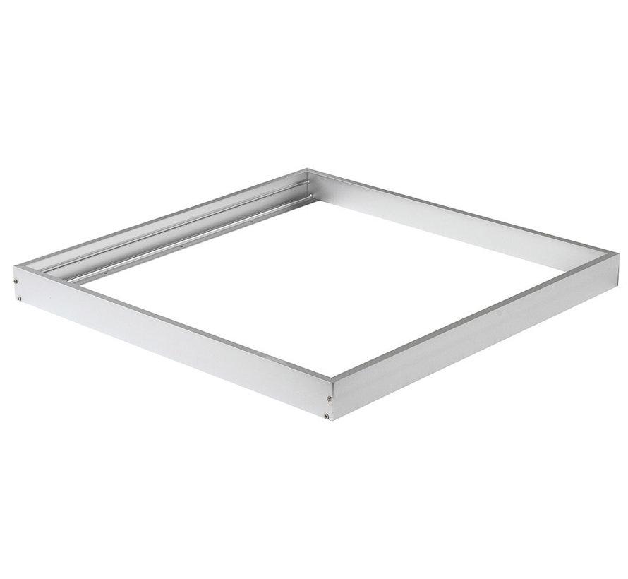 Sølv aluminium rammesystem til LED panel 60x60 cm inkl. skruer