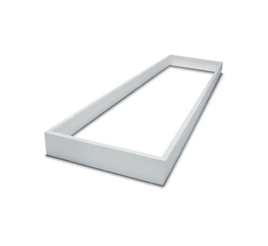 Hvidt rammesystem uden skruer til LED panel - 120x30 cm