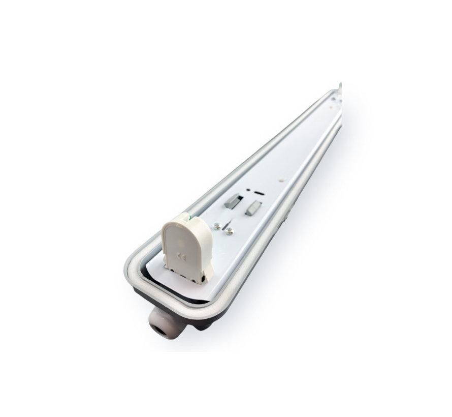 Vandtæt 150cm 24W LED armatur IP65 + 1 LED lysstofrør 4000K - Naturlig Hvid - Komplet