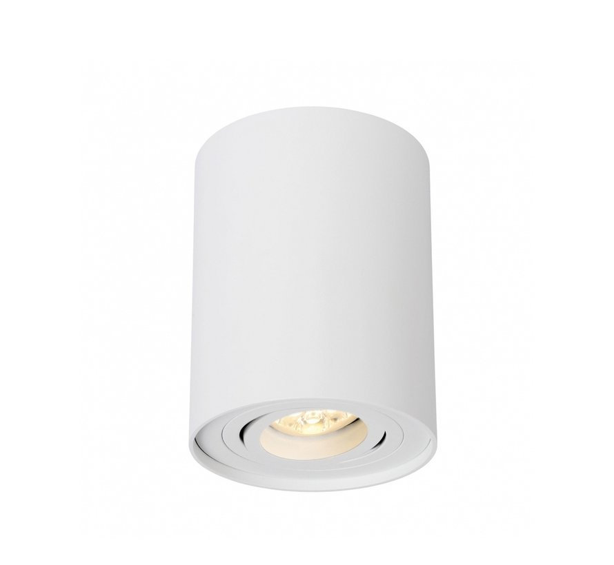 LED Påbygningsspot - Cylinderformet - Hvid - GU10-fatning - ekskl. LED spot - Justerbar