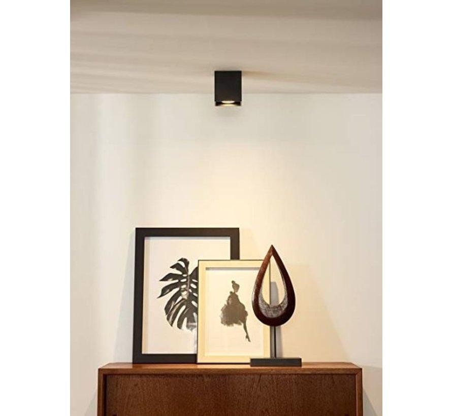 LED Påbygningsspot - Kubeformet - Sort - GU10-fatning - ekskl. LED spot - Justerbar