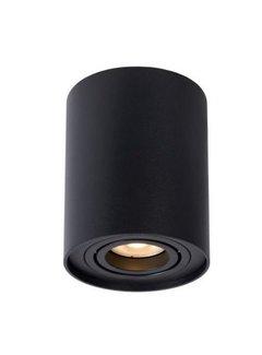 LED Påbygningsspot Cylinderformet - Sort GU10-fatning - ekskl. LED spot - Justerbar