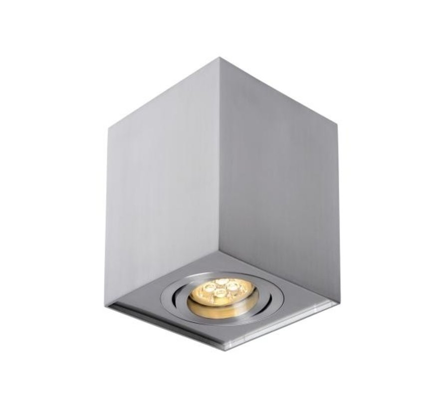LED Påbygningsspot - Kubeformet - Sølv aluminium - GU10-fatning - ekskl. LED spot - Justerbar