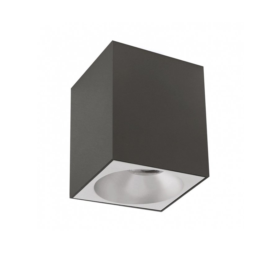 LED Påbygningsspot - Kubeformet - Mat sort - 95x95x138 mm - GU10-fatning