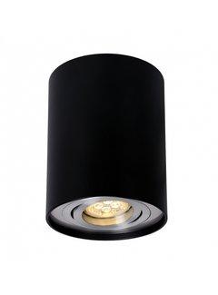 LED Påbygningsspot Cylinderformet - Sort aluminium - GU10-fatning - ekskl. LED spot - Justerbar