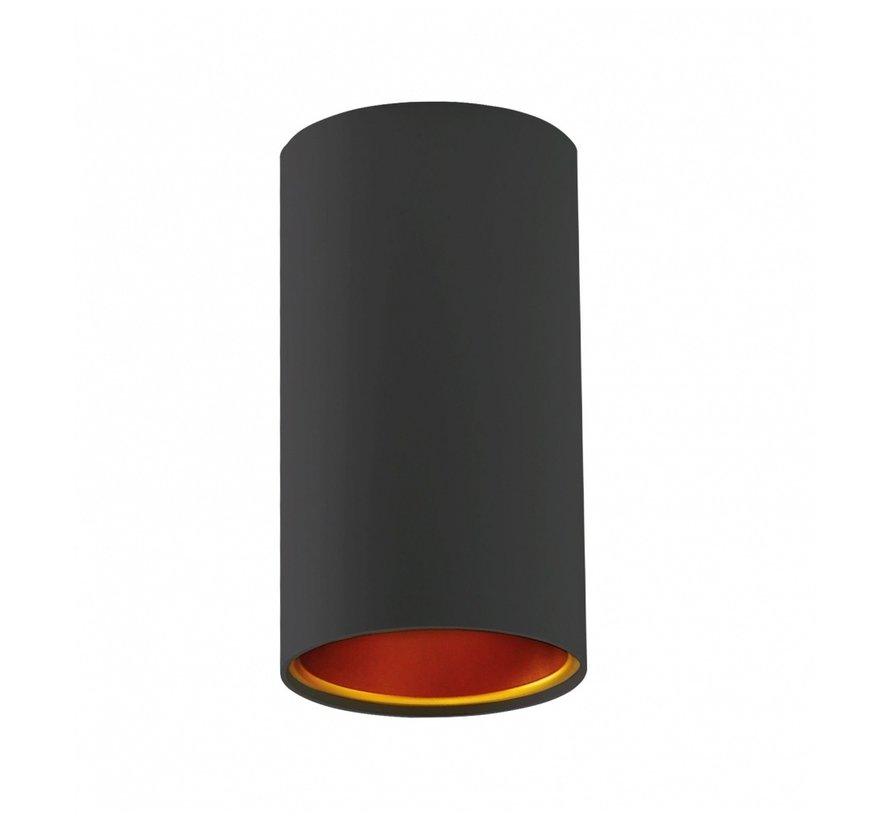 LED Påbygningsspot Chloe - Mat sort guld - GU10-fatning