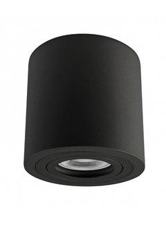LED Påbygningsspot IP65 - Cylinderformet Sort - GU10-fatning ekskl. LED spot