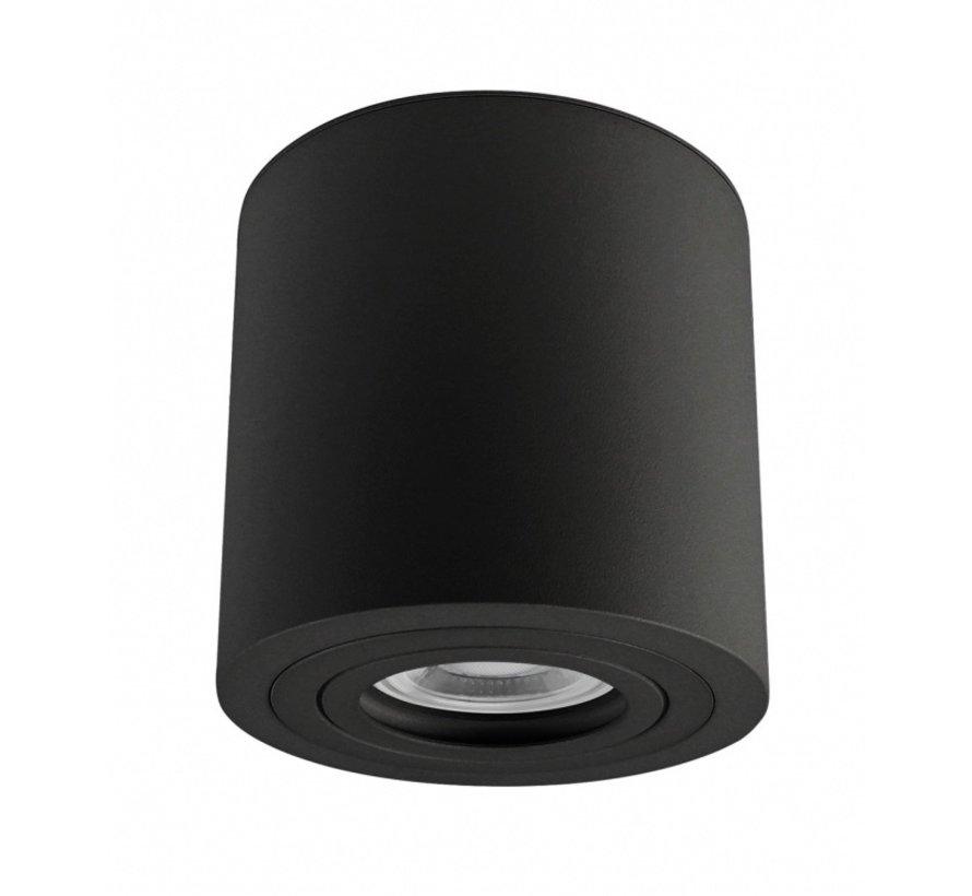 LED Påbygningsspot IP65 - Cylinderformet - Sort - GU10-fatning - ekskl. LED spot