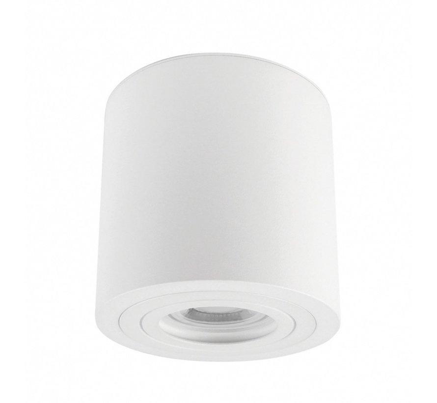 LED Påbygningsspot IP65 - Cylinderformet - Hvid - GU10-fatning - ekskl. LED spot