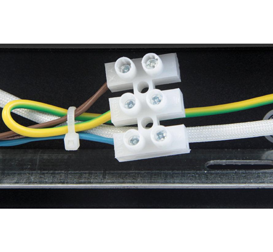 LED Påbygningsspot sort - 3 justerbare spots - GU10-fatning