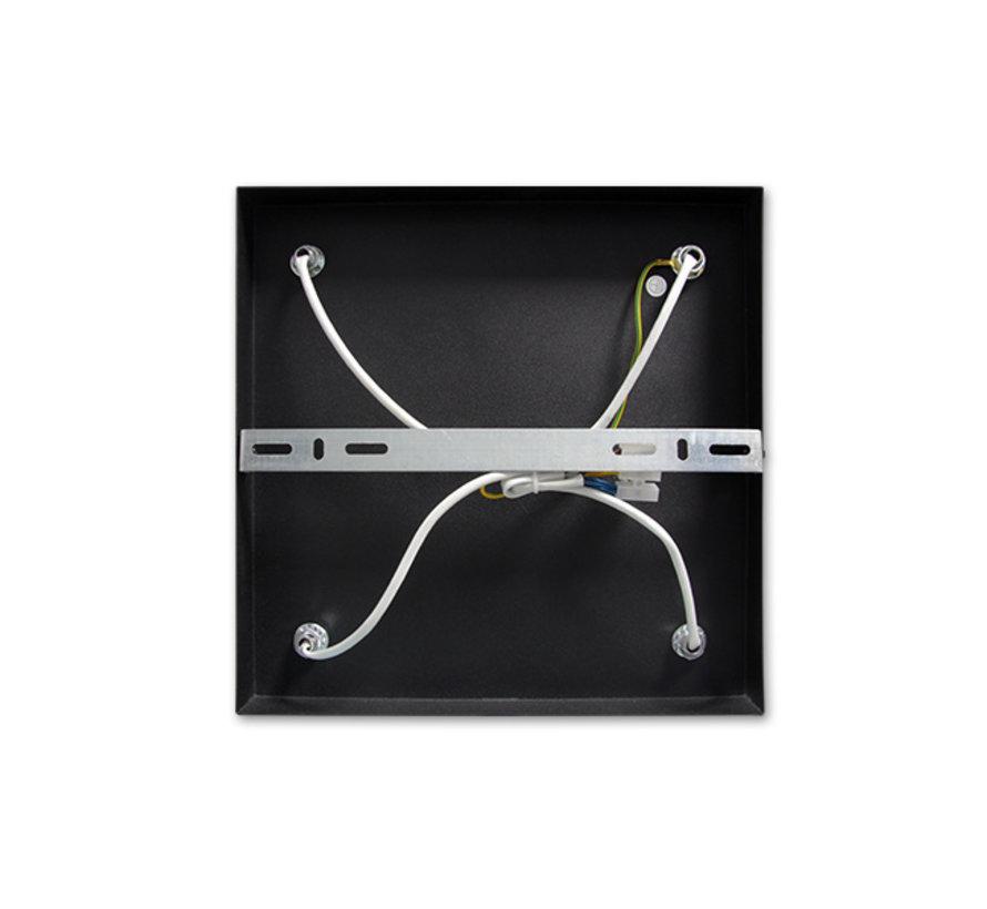 LED Påbygningsspot sort - 4 justerbare spots - GU10-fatning