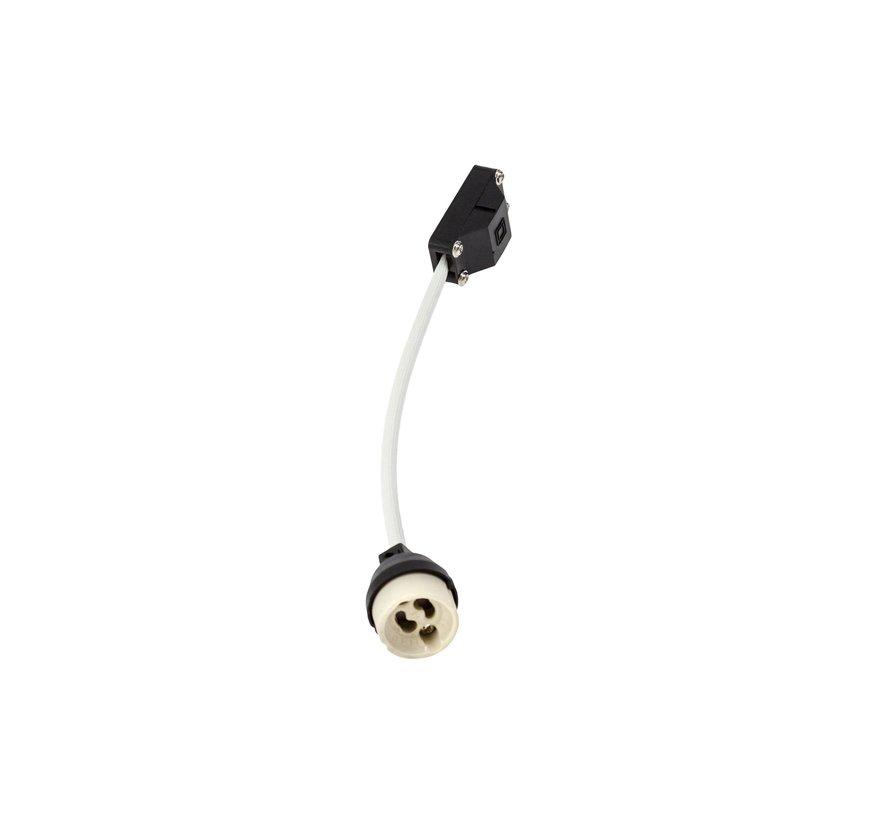 LED Påbygningsspot - AR111 230V - Mat hvid firkant - Eksklusiv AR111 LED Spot