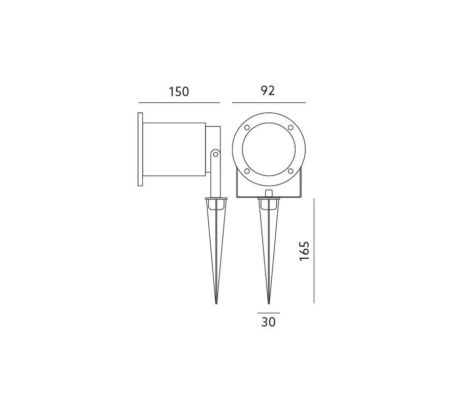 LED Havelampe på spyd - GU10-fatning - IP54 Vandtæt - Eksklusiv LED spot