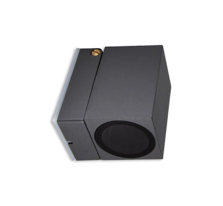 LED Væglampe justerbar - GU10-fatning - IP44 - Passer til 1 GU10 spot - Antracit