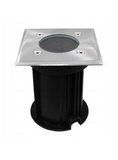 LED firkantet nedgravningsspot GU10-fatning - IP66 vandtæt
