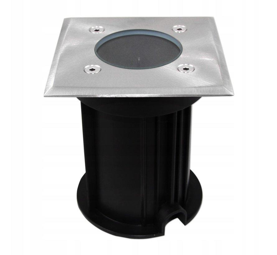 LED firkantet nedgravningsspot - GU10-fatning - IP66 vandtæt