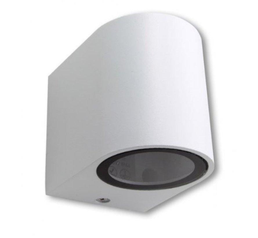 LED Væglampe rund hvid - GU10-fatning - IP44 - Passer til 1 GU10 spot