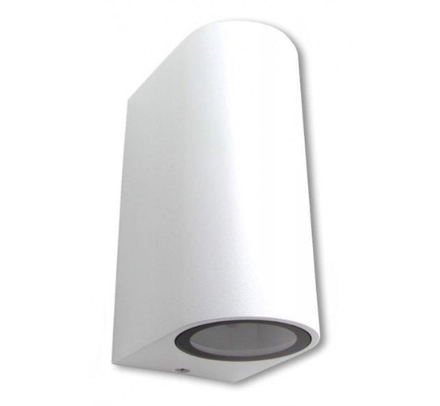 LED Væglampe rund hvid - GU10-fatning - IP44 - Passer til 2 GU10 spots