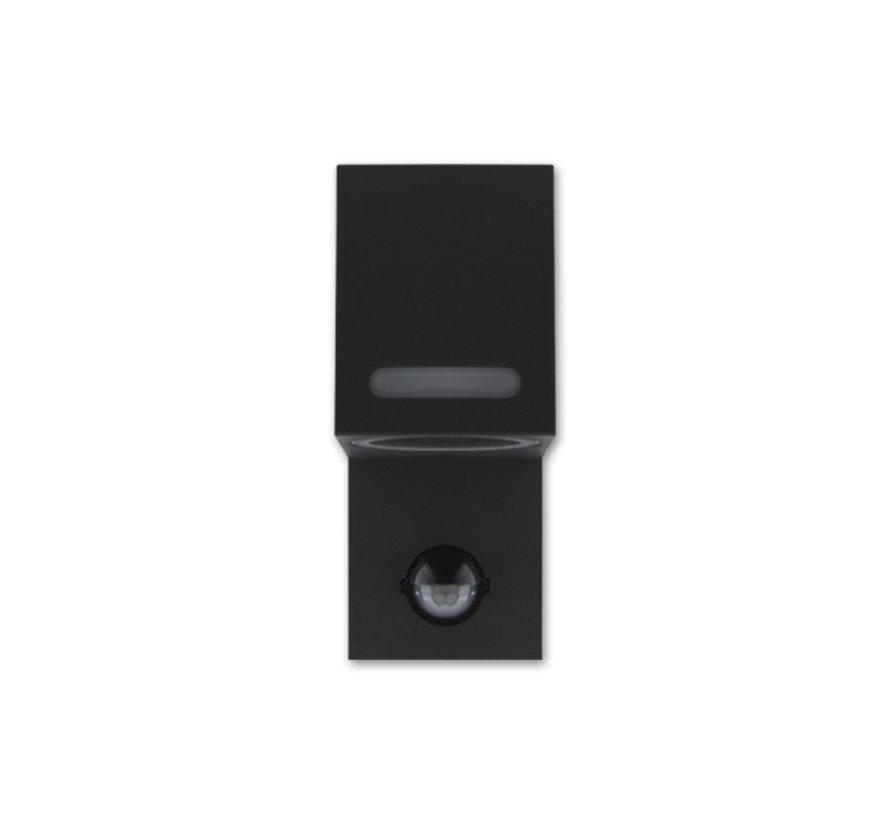 LED Væglampe med bevægelsessensor - GU10-fatning - IP44 - Passer til 1 GU10-spot