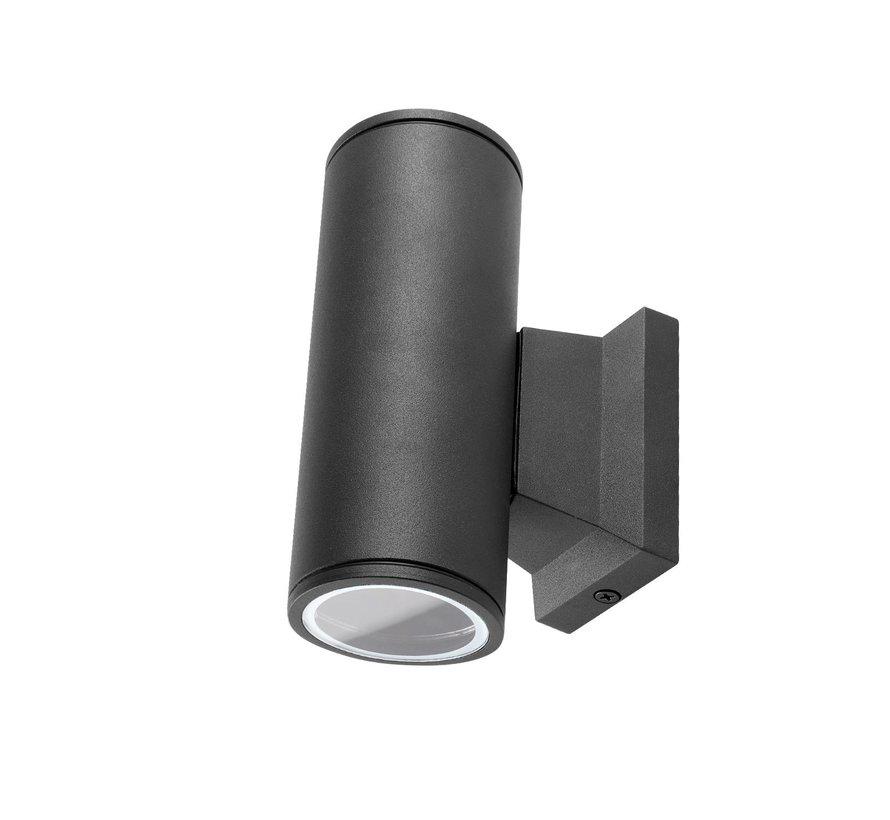 LED Væglampe Cylinder Sort - Til udendørs brug IP65 - GU10-fatning