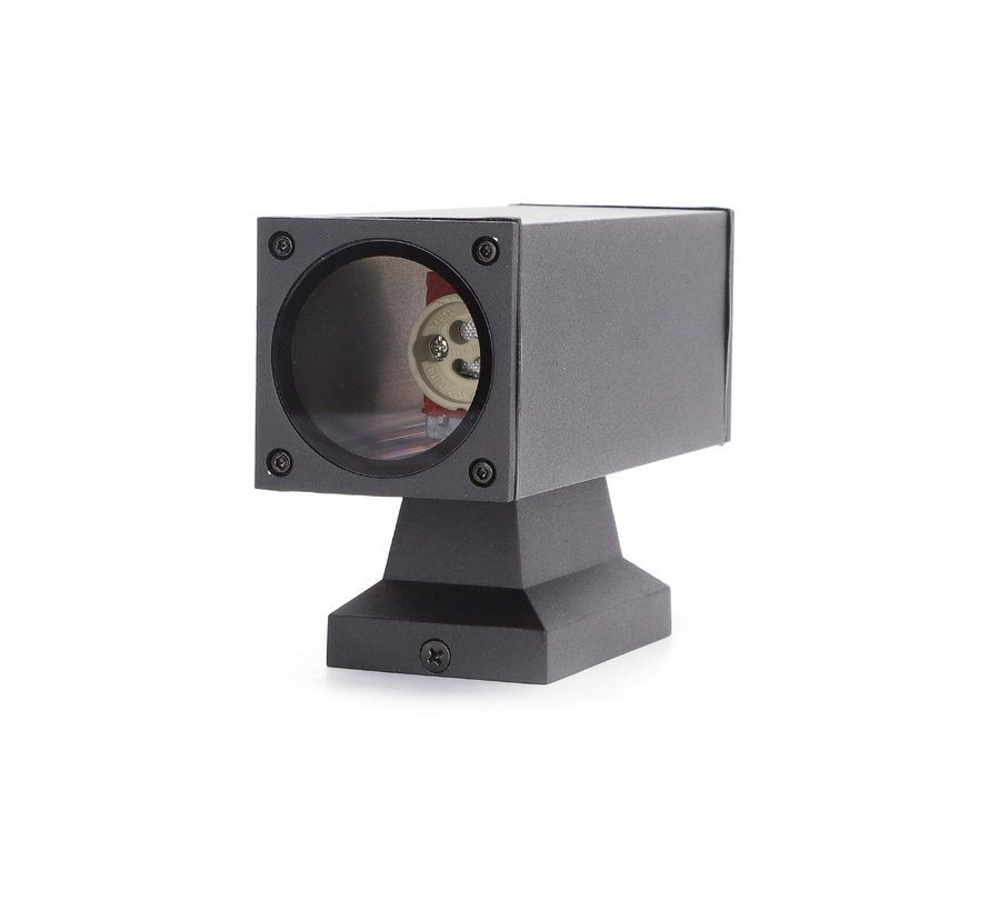 LED Væglampe Rektangel Sort - Til udendørs brug IP65 - GU10-fatning