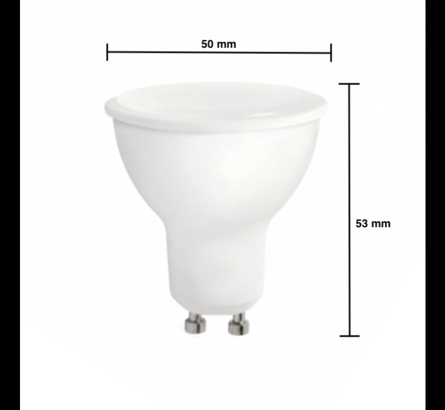 LED Spot GU10 - Dæmpbar - 6W erstatter 40W - 6000K koldt hvidt lys