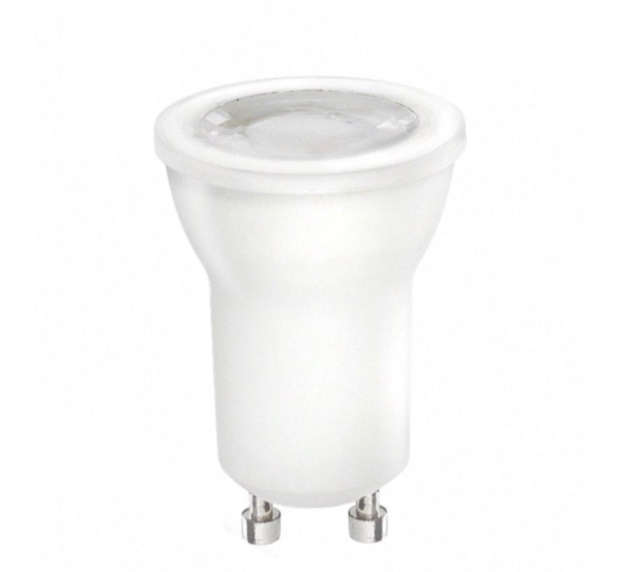 LED GU10 - Diameter 35mm - 2W erstatter 20W - 4000K naturligt hvidt lys
