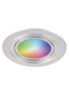 WiFi LED Indbygningsspot Aluminium - GU10 5W RGB+CCT alle lysfarver Betjenes via app