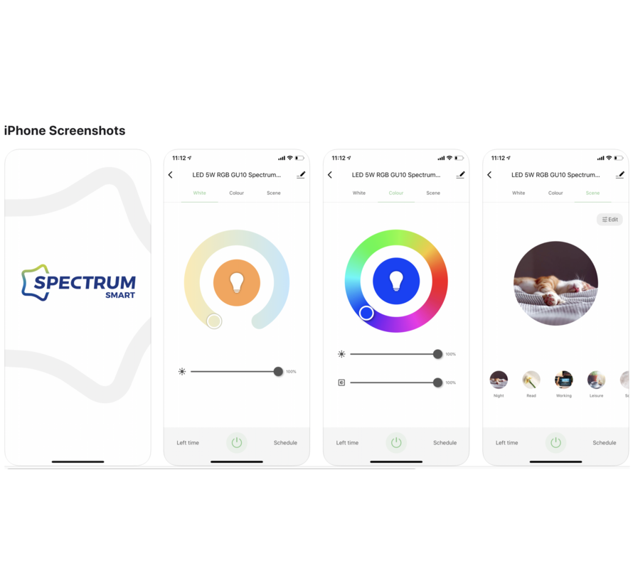 WiFi LED Indbygningsspot Aluminium - GU10 5W - RGB+CCT alle lysfarver - Betjenes via app