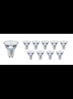 Pakke med 10 stk. - GU10 LED-spots - 5.5W erstatter 55W - Valgfri lysfarve
