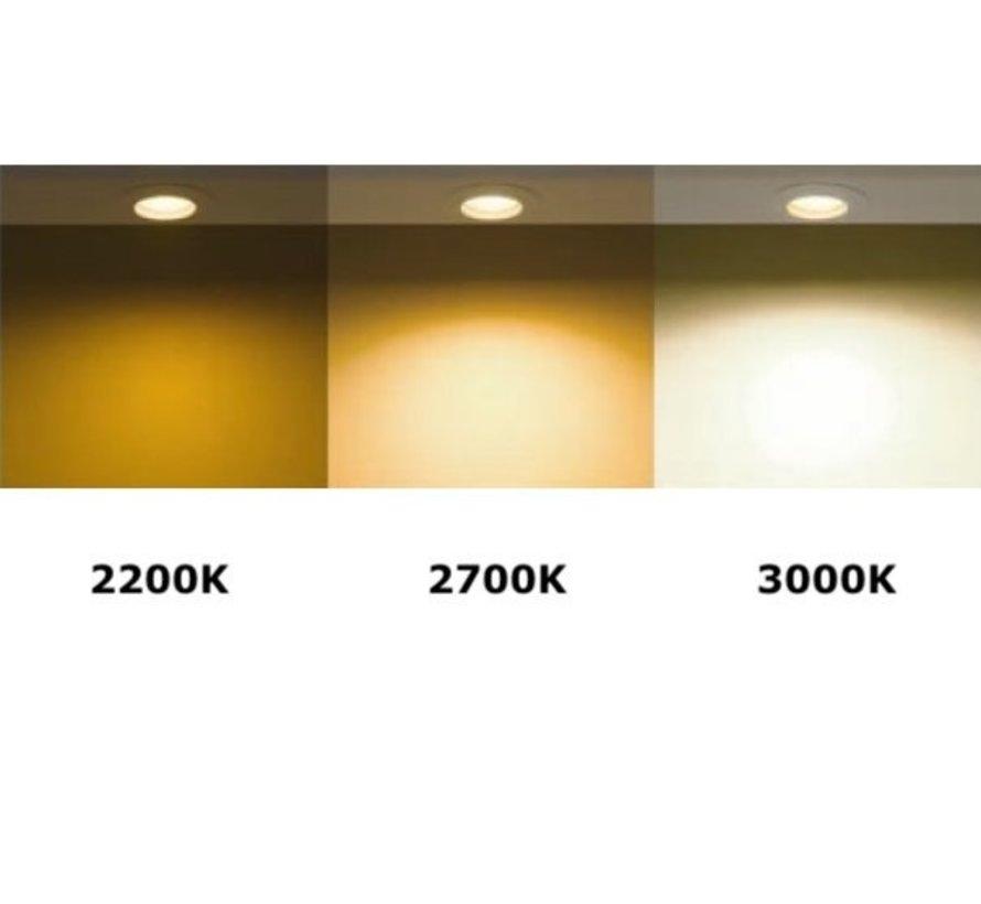 Pakke med 10 stk - GU10 LED-spots - 5,5W erstatter 35W - Dæmpbar - 2200K-3000K