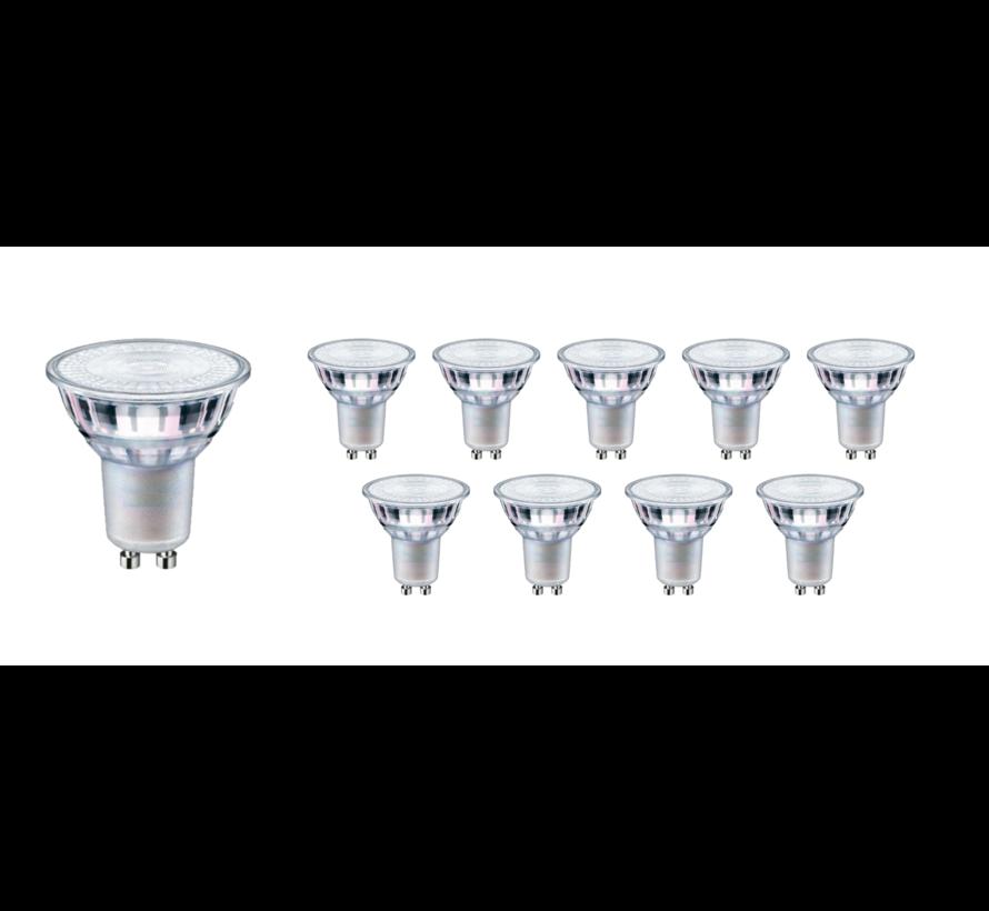 Pakke med 10 stk. - GU10 LED-spots - 5W erstatter 40W - Valgfri lysfarve