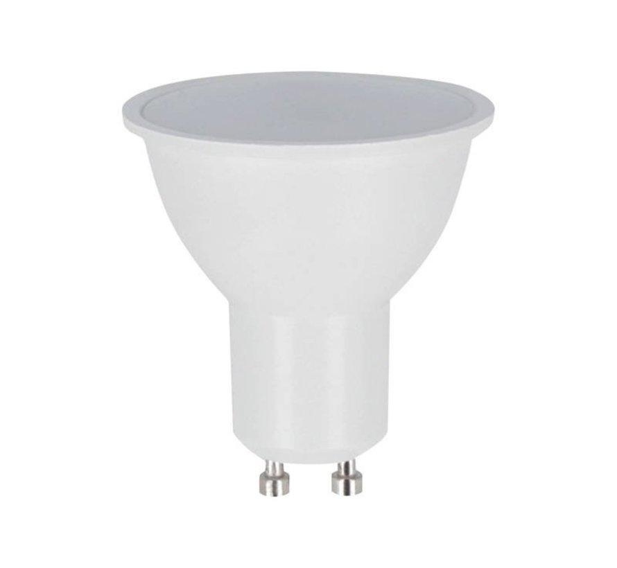 LED spot GU10 - 1W erstatter 12W - 3000K varmt hvidt lys - 100° lysspredning