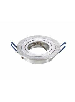 Indbygningsspot Aluminium rund Justebar - Indvendig mål 75mm - Udvendig diameter 91mm