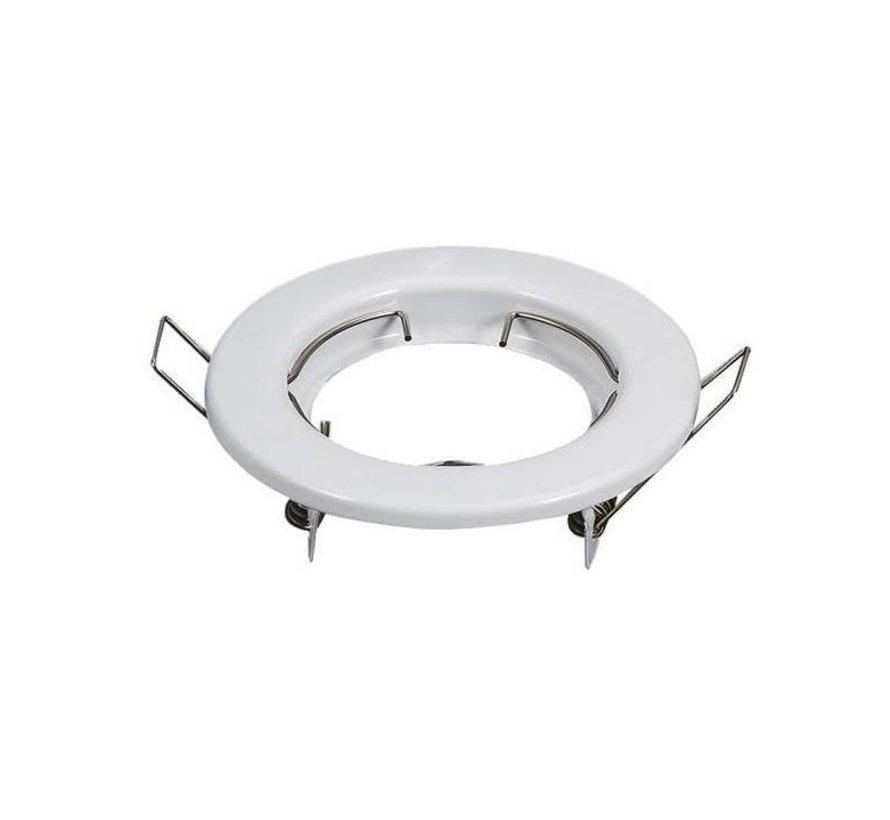 Indbygningsspot Hvid rund - Ikke justerbar - Indvendig mål 60mm - Udvendig diameter 80mm