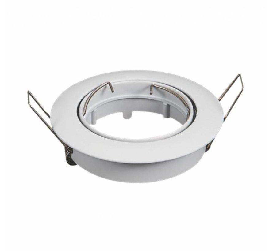 Indbygningsspot Hvid - justerbar - Indvendig mål 74mm - Udvendige diameter 82mm