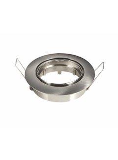 Indbygningsspot Satin rund - justerbar Indvendig mål 74mm Udvendig diameter 82mm
