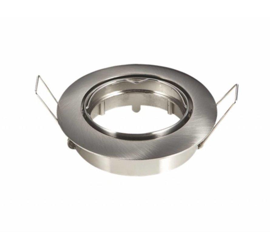 Indbygningsspot Satin rund - justerbar - Indvendig mål 74mm - Udvendig diameter 82mm
