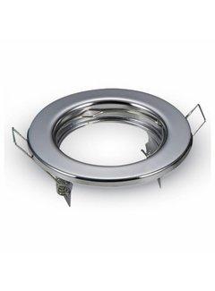 Indbygningsspot Krom rund - ikke justerbar Indvendig mål 60mm Udvendig diameter 80mm