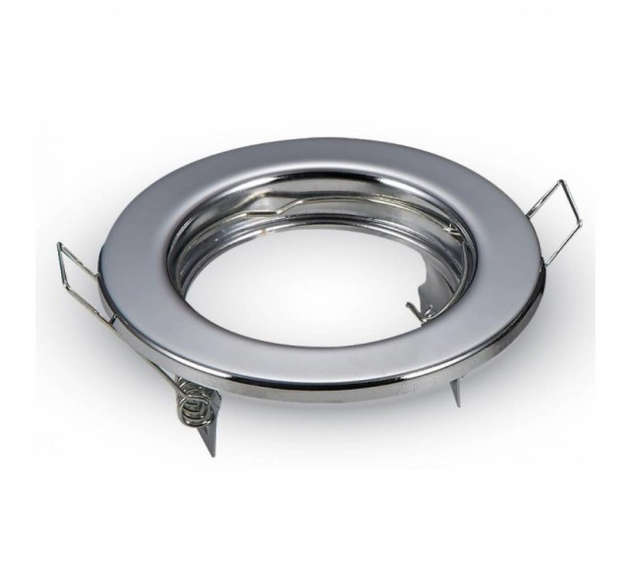 Indbygningsspot Krom rund - ikke justerbar - Indvendig mål 60mm - Udvendig diameter 80mm