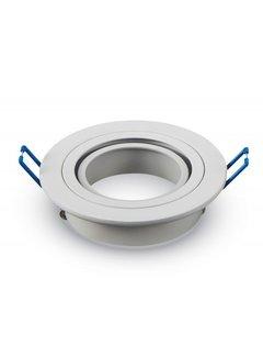 Indbygningsspot Hvid rund - justerbar Indvendig mål 75mm Udvendig diameter 92mm