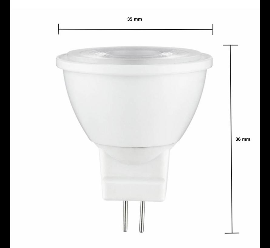 LED Spot GU4 - MR11 LED - 3W erstatter 25W - 6000K koldt hvidt lys