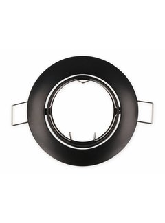 Indbygningsspot Sort rund - Justerbar Indvendig mål 80mm Udvendig diameter 92mm